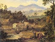 Joseph Anton Koch The Monastery of St.Francis in Sabine Hills, Rome oil painting artist
