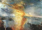 Joseph Mallord William Turner The Burning of the Houses of Parliament oil painting artist
