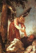 Juan Antonio Escalante An Angel Awakens the Prophet Elijah oil painting picture wholesale