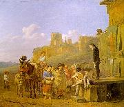 Karel Dujardin A Party of Charlatans in an Italian Landscape oil painting picture wholesale