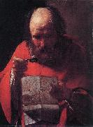 LA TOUR, Georges de Saint Jerome Reading sg oil painting artist