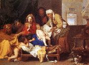 LE BRUN, Charles Holy Family with the Adoration of the Child s oil painting artist