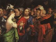 Lorenzo Lotto Christ and the Adulteress oil painting artist