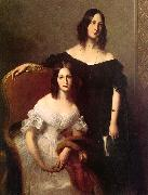 Louis-Edouard Dubufe Portrait of Two Sisters oil painting picture wholesale