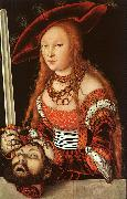 Lucas  Cranach Judith with the Head of Holofernes oil painting picture wholesale