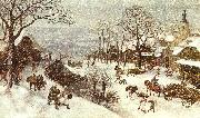 Lucas Van Valkenborch Winter oil painting picture wholesale