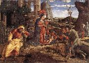 MANTEGNA, Andrea The Adoration of the Shepherds sf oil painting artist