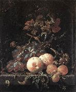 MIGNON, Abraham Still-Life with Fruits sg oil painting artist