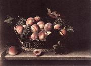 MOILLON, Louise Basket with Peaches and Grapes s oil painting picture wholesale