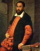 MORONI, Giovanni Battista Portrait of Jacopo Foscarini agd oil painting artist