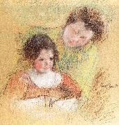Mary Cassatt Reine Leaning Over Margot's Shoulder oil painting picture wholesale