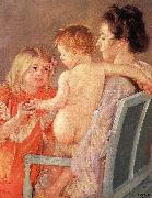 Mary Cassatt Sara Handing a Toy to the Baby oil painting picture wholesale