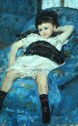 Mary Cassatt Little Girl in a Blue Armchair oil painting picture wholesale
