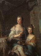 NATTIER, Jean-Marc Madame Marsollier and her Daughter sg oil painting artist