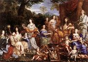 NOCRET, Jean The Family of Louis XIV a oil painting artist