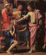 Nicolas Poussin Jesus Healing the Blind of Jericho oil painting picture wholesale