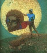 Odilon Redon The Fall of Icarus oil painting artist