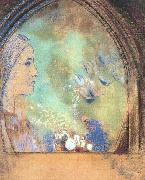 Odilon Redon Profile in an Arch oil painting artist