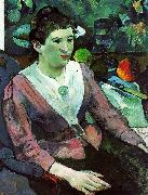 Paul Gauguin Portrait of a Woman with a Still Life by Cezanne oil painting picture wholesale