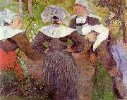 Paul Gauguin Four Breton Women oil painting picture wholesale