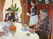 Paul Signac The Dining Room oil painting artist