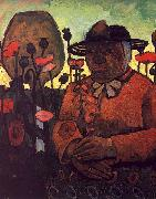 Paula Modersohn-Becker Old Poorhouse Woman with a Glass Bottle oil painting picture wholesale