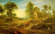 Peter Paul Rubens Landscape with a Watering Place oil painting artist