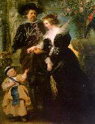 Peter Paul Rubens Rubens with his Wife, Helene Fourmont and Their Son, Peter Paul oil painting picture wholesale