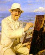 Peter Severin Kroyer Self Portrait  2222 oil painting picture wholesale