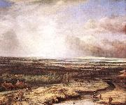 Philips Koninck An Extensive Landscape with a Hawking Party oil painting picture wholesale