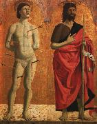 Piero della Francesca St.Sebastian and St.John the Baptist oil painting picture wholesale