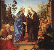 Piero di Cosimo The Visitation and Two Saints oil painting artist