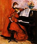 Pierre Renoir Two Young Girls at the Piano oil painting picture wholesale