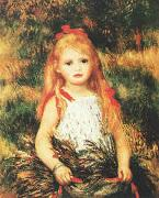 Pierre Renoir Girl with Sheaf of Corn oil painting picture wholesale