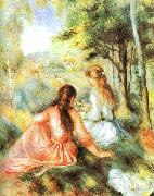 Pierre Renoir In the Meadow oil painting picture wholesale