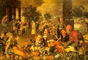 Pieter Aertsen Market Scene with Christ and the Adulteress oil painting picture wholesale