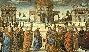 Pietro Perugino Christ Delivering the Keys to St.Peter oil painting artist