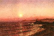 Raymond D Yelland Moonrise Over Seacoast at Pacific Grove oil painting picture wholesale