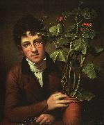 Rembrandt Peale Rubens Peale with Geranium oil painting artist