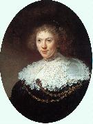 Rembrandt Woman Wearing a Gold Chain oil painting picture wholesale
