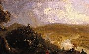 Thomas Cole Sketch for 'View from Mount Holyoke,  Northampton,Massachusetts, after a Thunderstorm oil painting picture wholesale