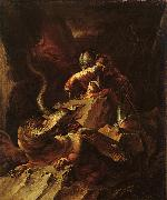 Salvator Rosa Jason Charming the Dragon oil painting artist