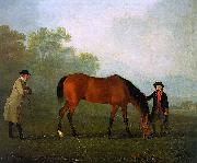 Sawrey Gilpin Furiband with his Owner Sir Harry Harpur and a Groom oil painting artist