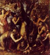 TIZIANO Vecellio The Flaying of Marsyas ar oil painting artist