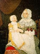The Freake Limner Mrs Elizabeth Freake and Baby Mary oil painting artist