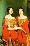 Theodore Chasseriau The Two Sisters oil painting artist