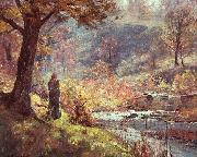 Theodore Clement Steele Morning by the Stream oil painting artist