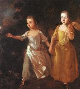 Thomas Gainsborough The Painter's Daughters Chasing a Butterfly oil painting picture wholesale
