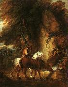 Thomas Gainsborough Wooded Landscape with Mounted Drover oil painting picture wholesale
