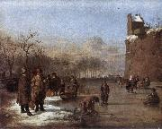 VELDE, Adriaen van de Amusement on the Ice r oil painting artist